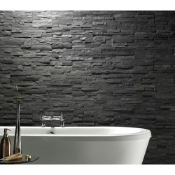Black Slate Split Face Mosaic Tiles for Walls