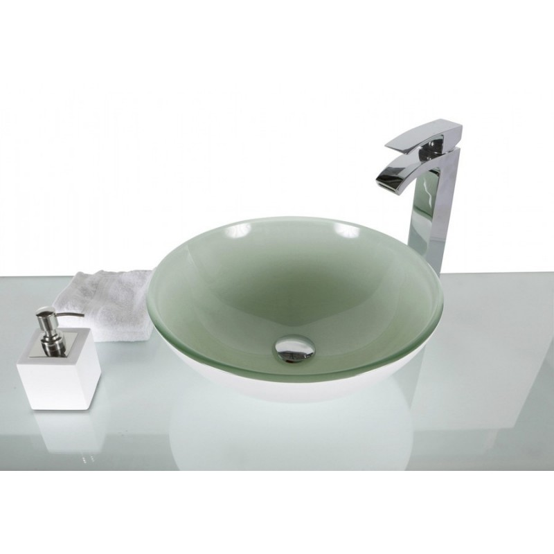 White Glass Round Wash Basin / Sink