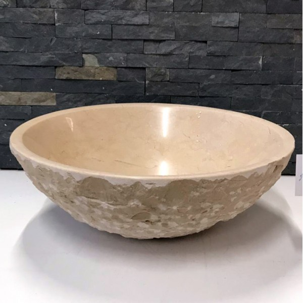 New Crema Marfil Marble Stone Wash Basin / Sink