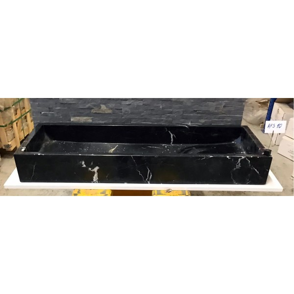 Black Marquina Marble Sink