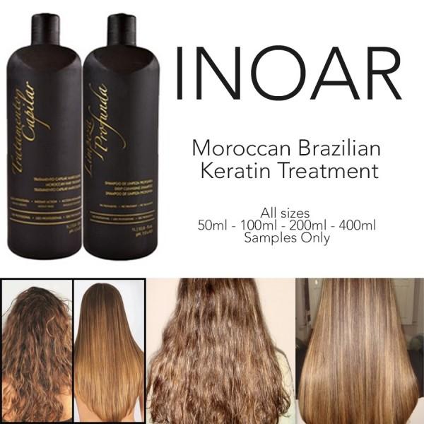 INOAR BRAZILIAN MOROCCAN KERATIN BLOW DRY TREATMENT HAIR STRAIGHTENING SAMPLE KIT