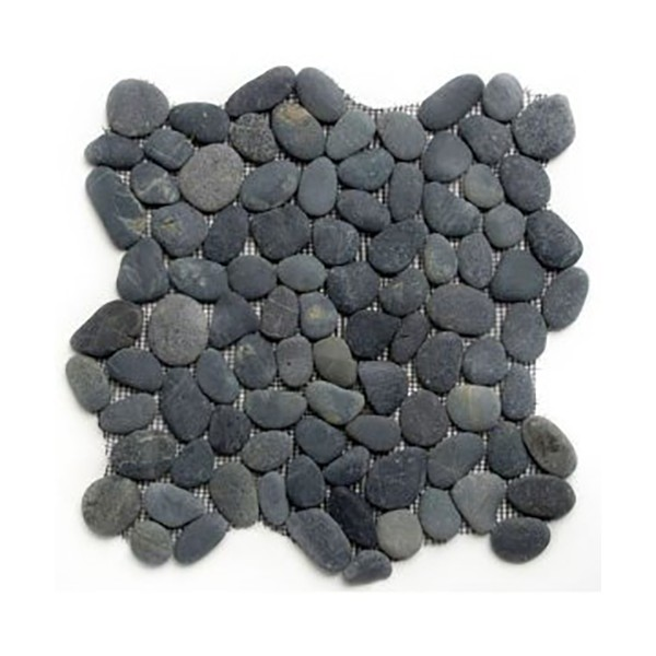 Black Pebble Stone on Mesh Tiles for Floors & Walls