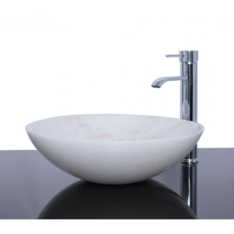 Sinks > Marble Sinks > White Marble Stone Round Wash Basin / Sink ...