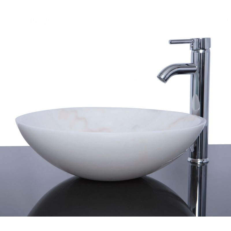Stone Basin Sink : Sinks > Marble Sinks > White Marble Stone Round Wash Basin / Sink ...