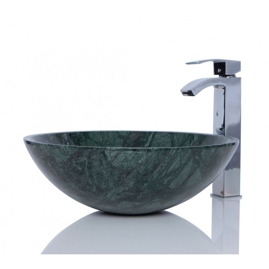 India Green Marble Stone Round Wash Basin / Sink + FREE WASTE