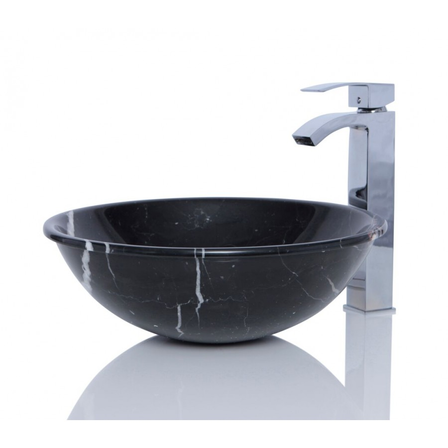 Black Marquina Marble Sink