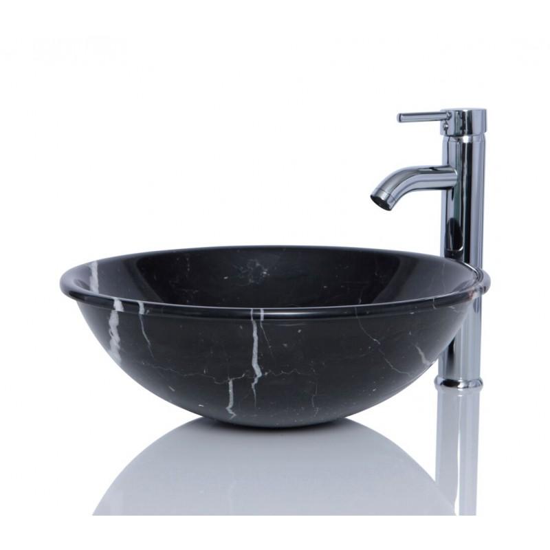 Stone Basin Sink : > Marble Sinks > Black Marble Stone Nero Marquina Round Wash Basin ...