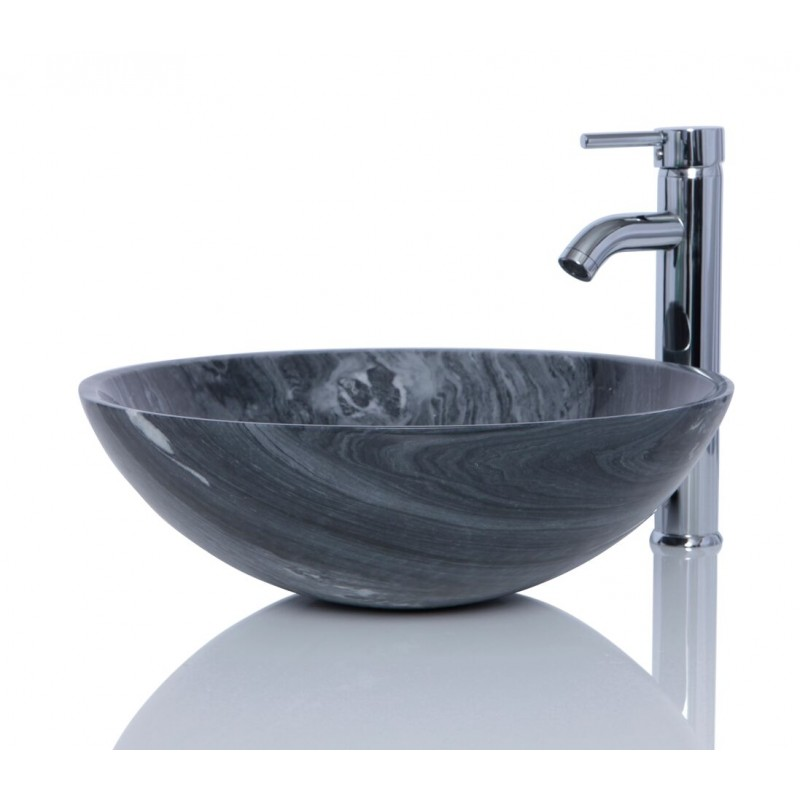 Marble Sink Basin : Sinks > Marble Sinks > Ancient Wood Marble Stone Round Wash Basin ...