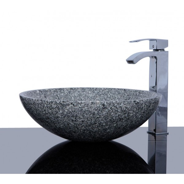 Light Grey Granite G603 Stone Round Wash Basin / Sink + FREE WASTE