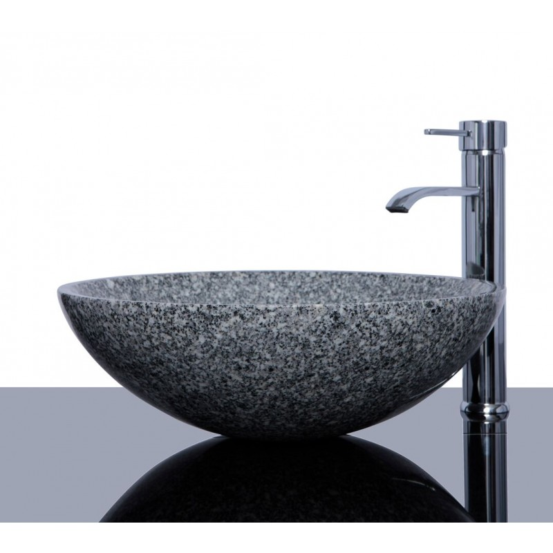 light grey granite g603 stone round wash basin sink
