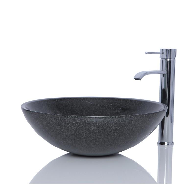 Grey Stone Sink : Sinks > Granite Sinks > Dark Grey Granite G654 Stone Round Wash ...