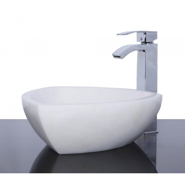 White Marble Stone Triangle Wash Basin / Sink -  L 38.5  cm