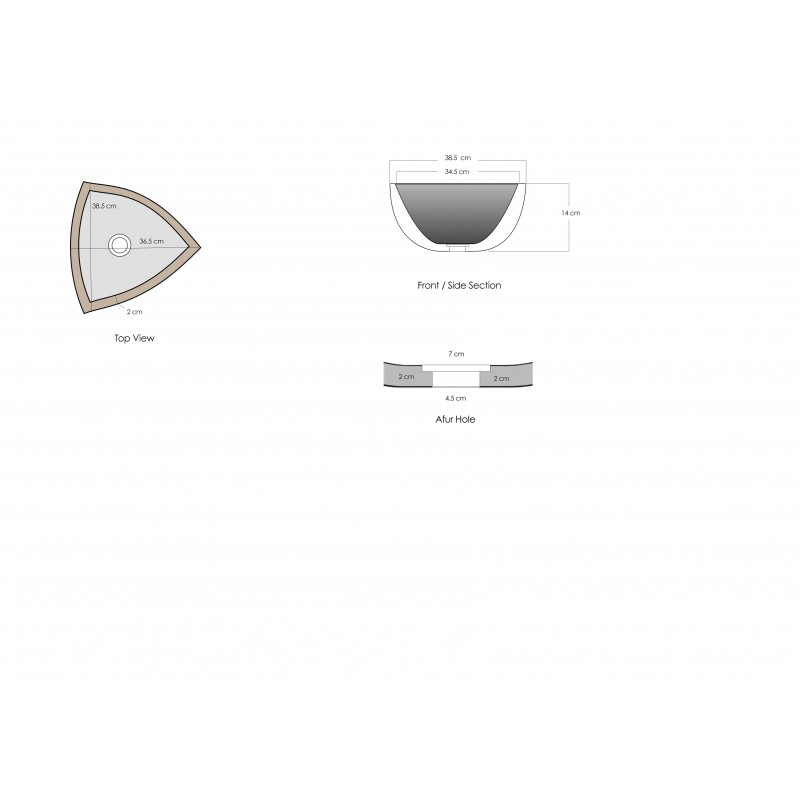 Triangle Sink : Sinks > Marble Sinks > White Marble Stone Triangle Wash Basin / Sink ...