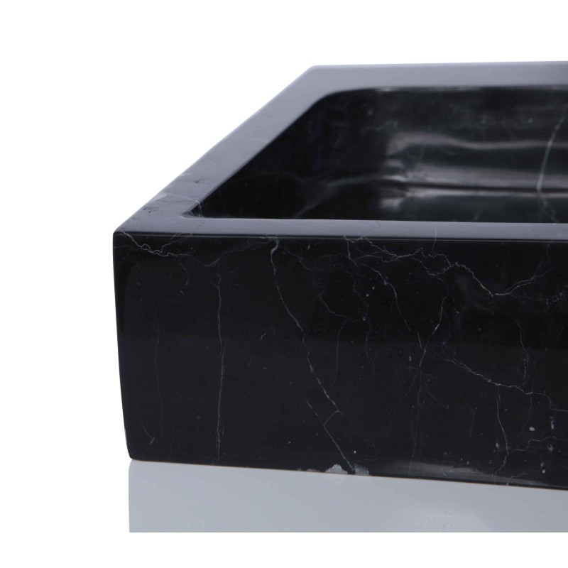 Square Marble Sink : Sinks > Marble Sinks > Black Marble Nero Marquina Stone Square Wash ...