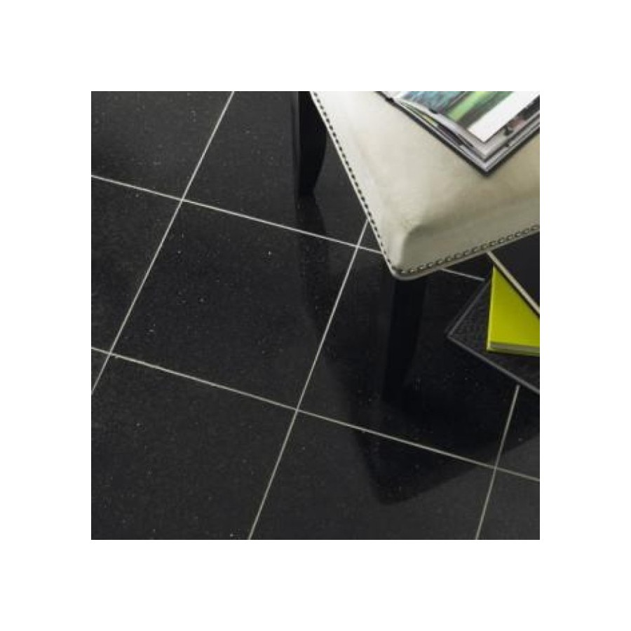 Polished Black Galaxy Granite Tiles For Floors Walls