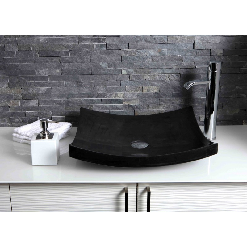 Sinks > Granite Sinks > Black Granite Stone Retangular Wash Basin ...