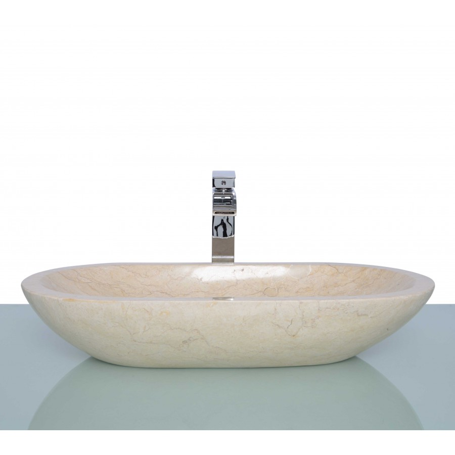 Sinks > Marble Sinks > Polished Beige Marble Stone Oval Wash Basin ...