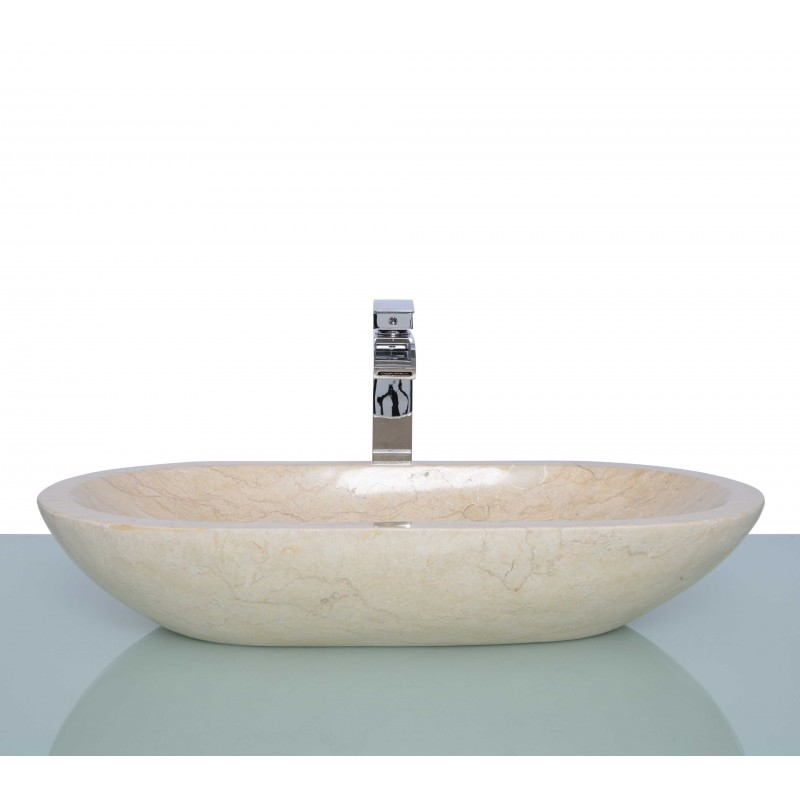 Stone Sink Basin : Sinks > Marble Sinks > Polished Beige Marble Stone Oval Wash Basin ...