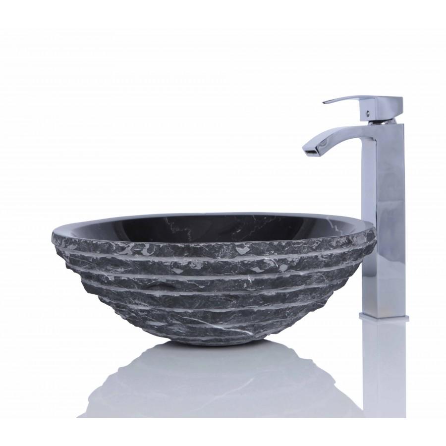 Stone Basin Sink : > Marble Sinks > Black Marble Nero Marquina Stone Round Wash Basin ...