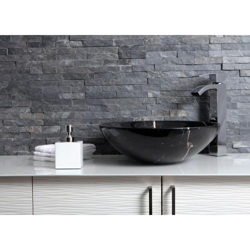 Black Marble Sink : Sinks > Marble Sinks > Black Marble Nero Marquina Stone Round Wash ...