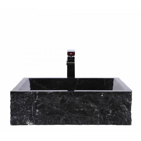 Black Marble Nero Marquina Stone Retangular Wash Basin / Sink + FREE WASTE