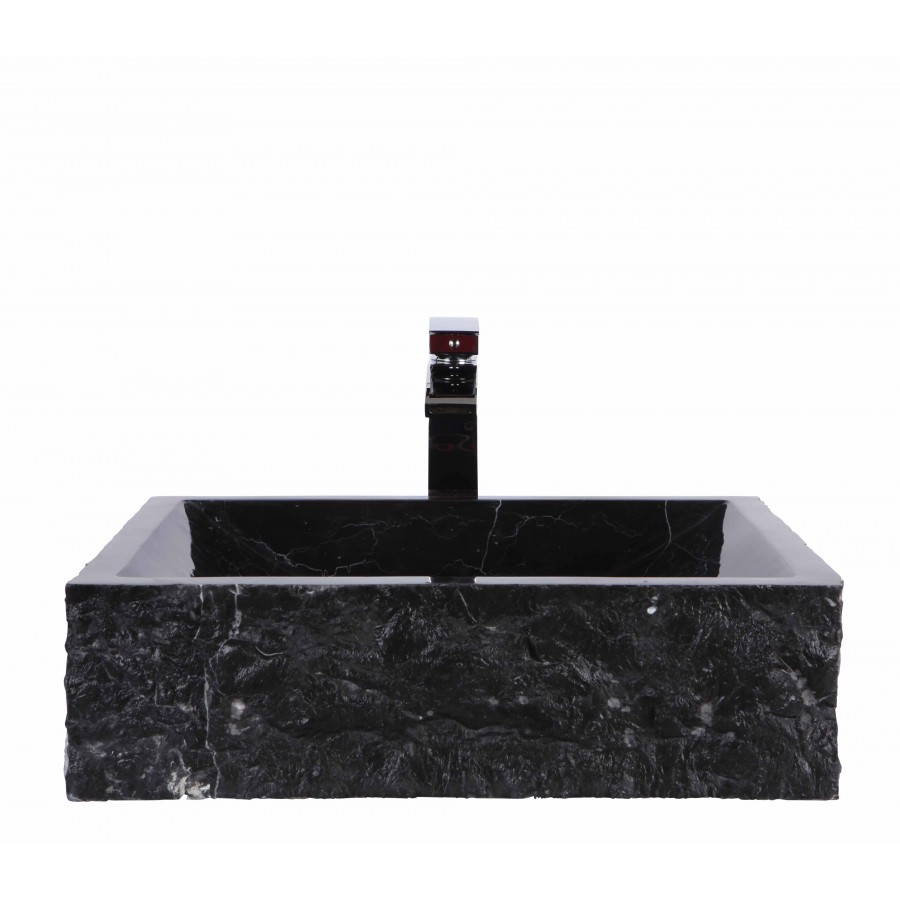 Black Marble Nero Marquina Stone Retangular Wash Basin / Sink