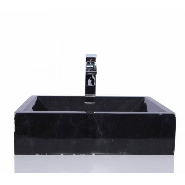 Black Marble Nero Marquina Retangular Wash Basin / Sink + FREE WASTE