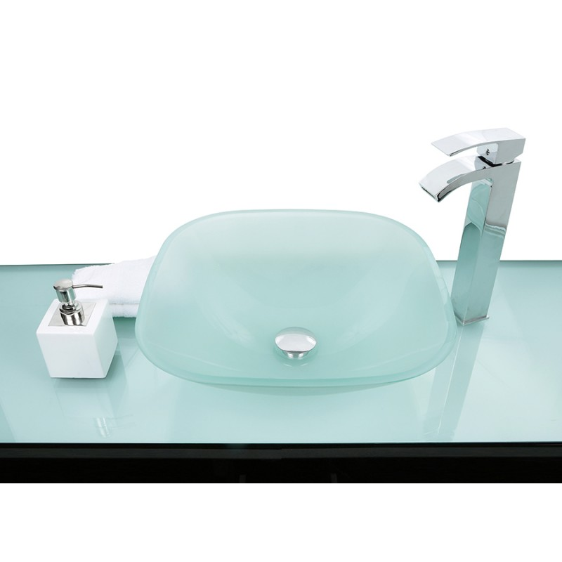 Sinks > Glass Sinks > Frosted Glass Square Wash basin / Sink + Free ...