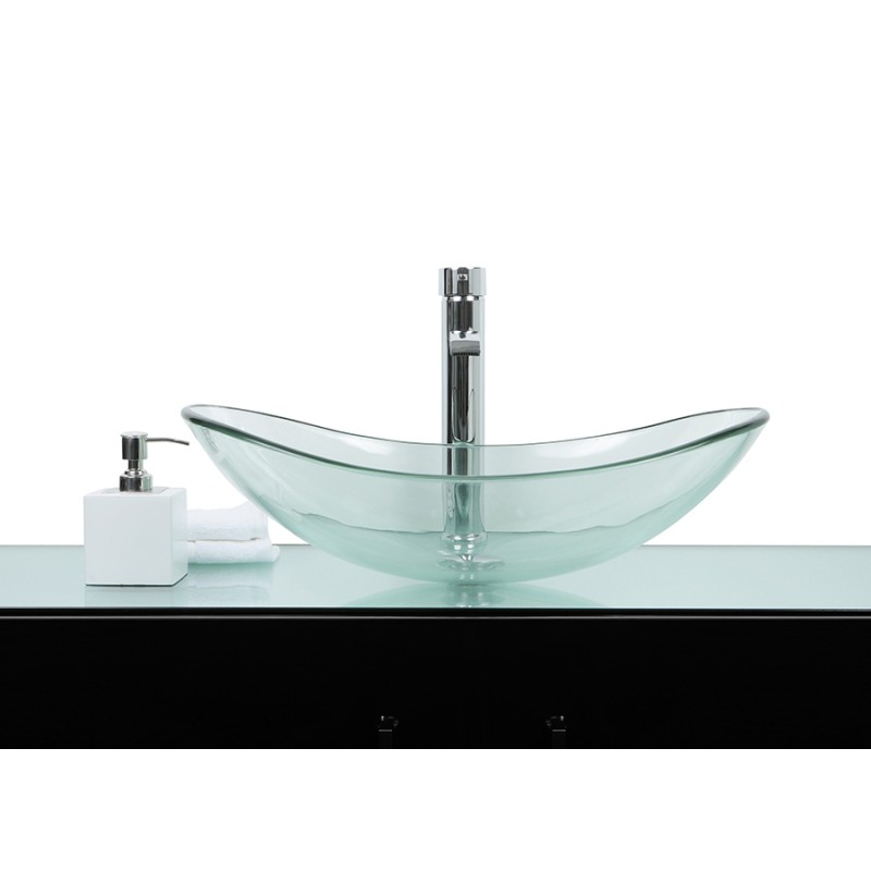 Sink Glass : Sinks > Glass Sinks > Large Glass Oval Wash basin / Sink + Free ...