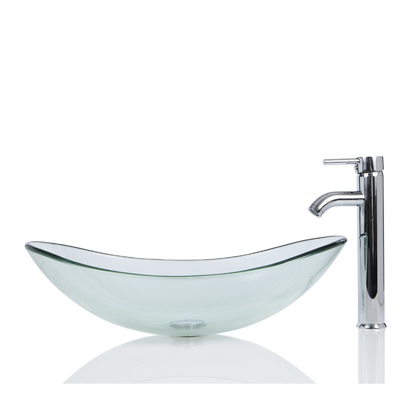 Sinks > Glass Sinks > Large Glass Oval Wash basin / Sink + Free ...