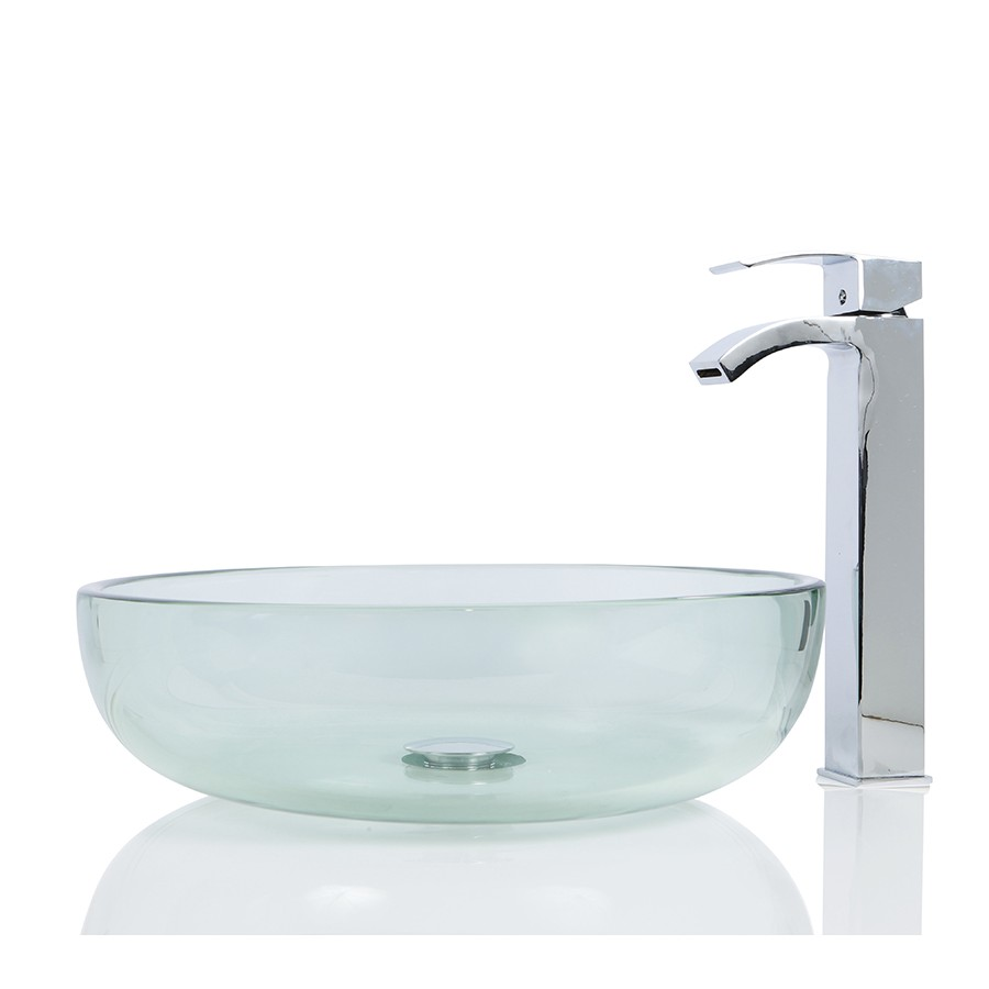 Glass Round Wash basin / Sink + Free Waste