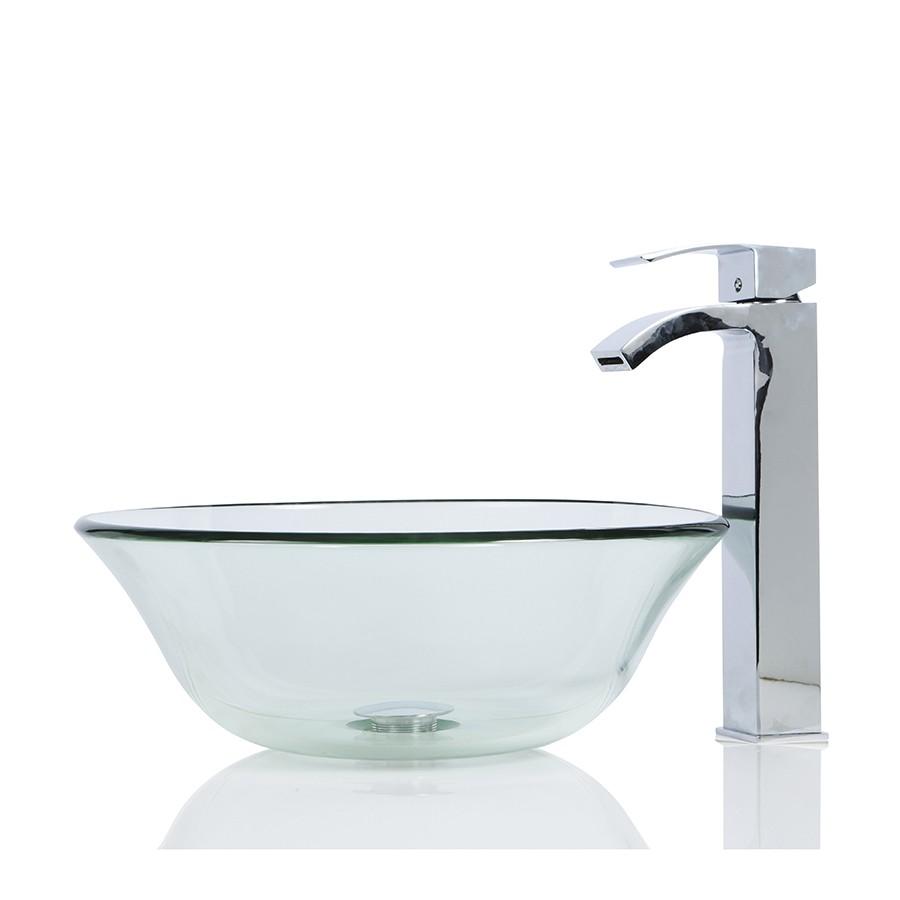 Glass Round Wash basin / Sink + Free Waste