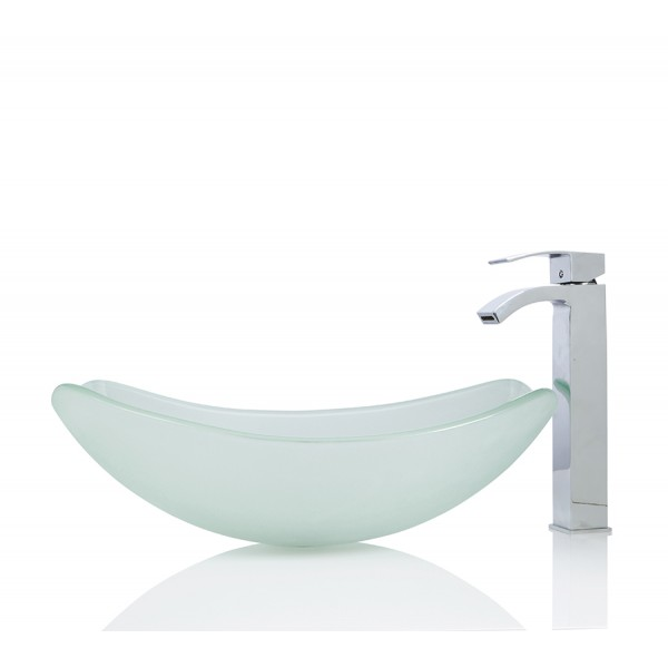 LARGE Glass Round Oval basin / Sink + Free Waste