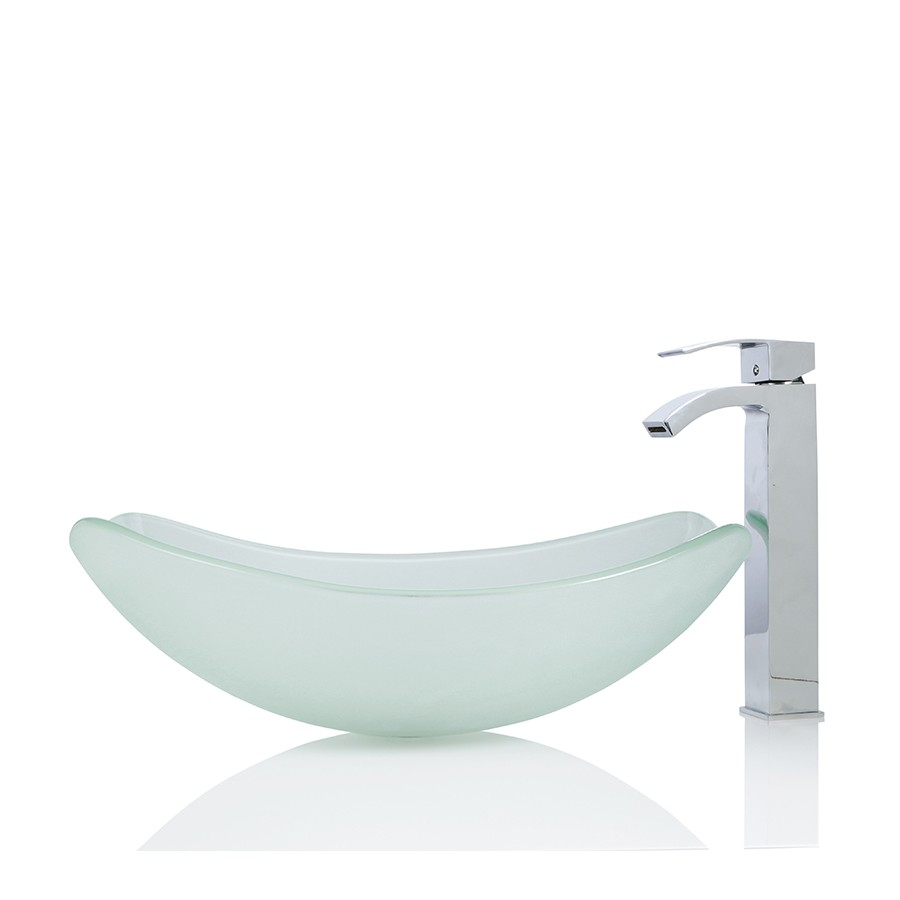 Large Glass Round Oval Basin Sink Free Waste