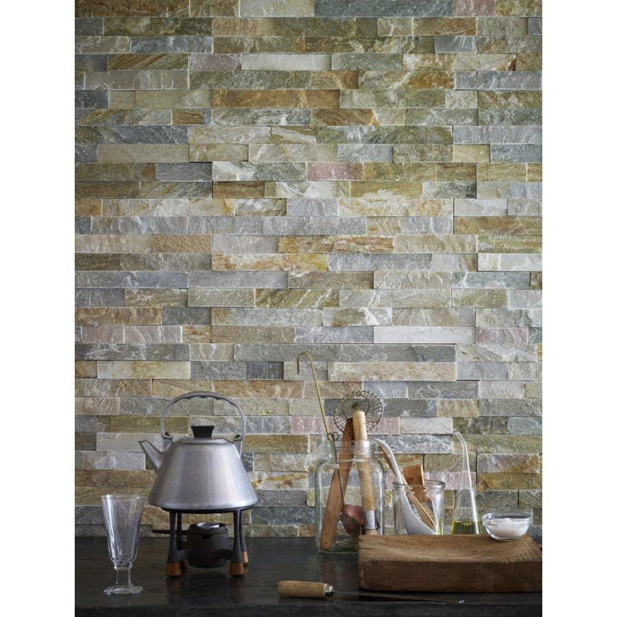 OYSTER SCHIST Split Face Cladding Mosaic Tiles for Walls - Rooms and ...