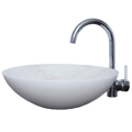 White Marble Stone Oval Wash Basin / Sink